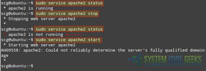 install Apache web server Checking the running status of Apache in Ubuntu