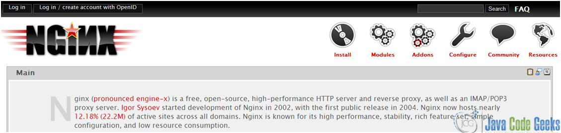 Figure 2: Nginx official wiki (wiki.nginx.org)