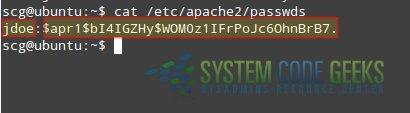 Figure 4: Apache Configuration Tutorial: The Apache passwords file