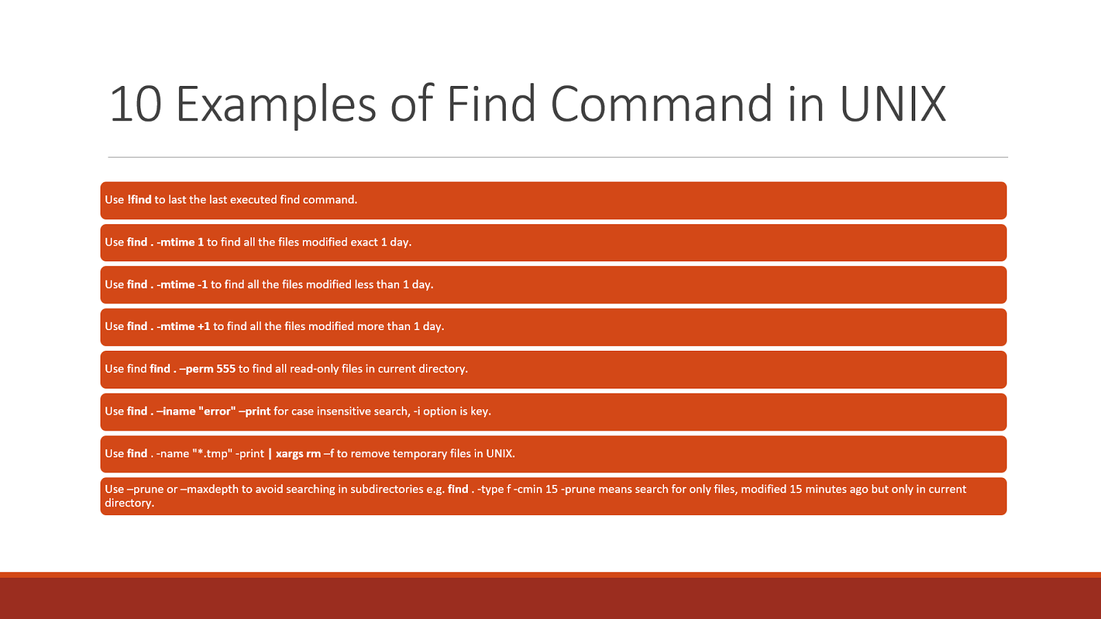 10 Examples of find command in Unix and Linux | System Code