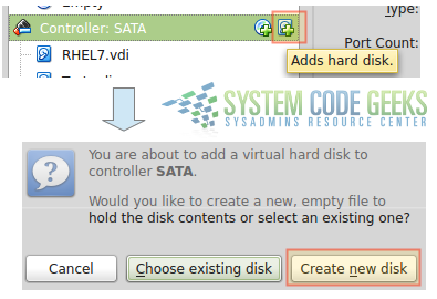 Figure 2: Adding new virtual disks