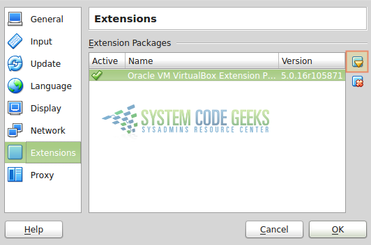 Figure 9: Installing the extension pack