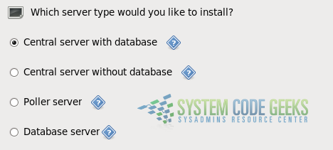 Figure 2: Choosing the desired Centreon installation type