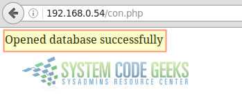 Verifying database connection via PHP