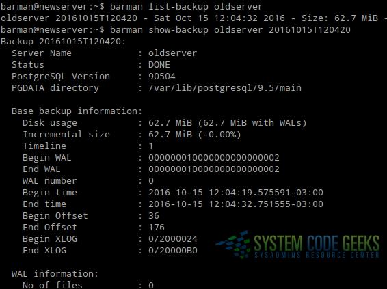 PostgreSQL backup, restore, and migration Tutorial   System