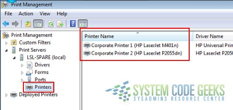 Installing Printers in Windows with Export/Import Packages