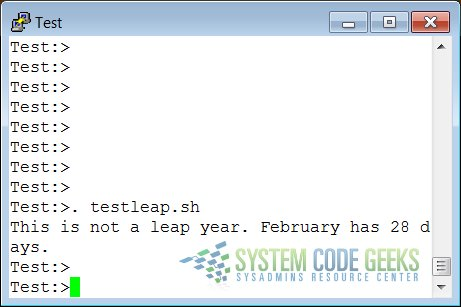 An If-Then-Else Example about checking, if the current year is a leap year