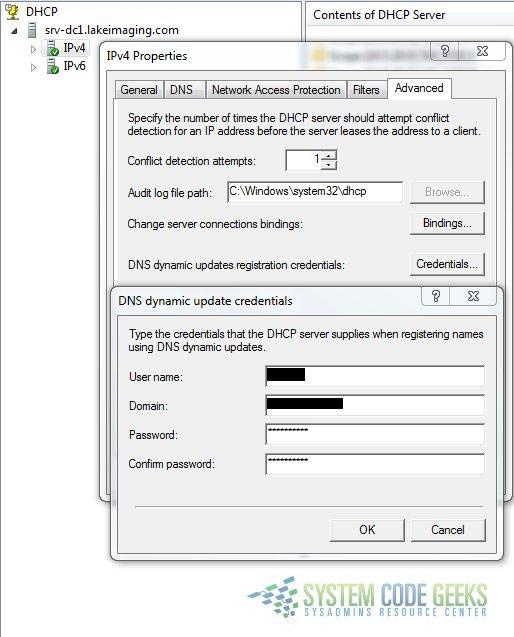 Backup & Restore DHCP Server Database Information | System